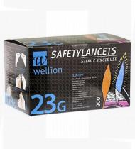 Lancetas de segurança pro Wellion 23g cx 200