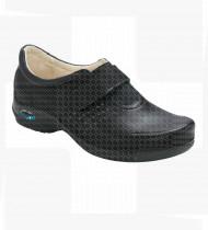 Sapato Milão c/velcro e elástico Preto nº 40