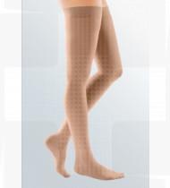 Meia Mediven Comfort AG até à coxa c/ banda fixação curta CL1 com biqueira Tam.I