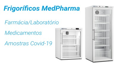 Distribuidor frigoríficos MedPharma Farmácia Laboratório amostras Covid-19 medicamentos